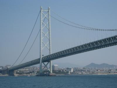明石海峡大橋 船上から撮る