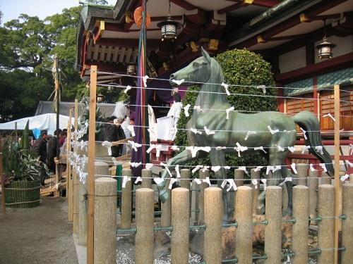 西宮神社の逆さ門松 2008