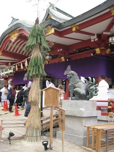 西宮神社の逆さ門松 2019