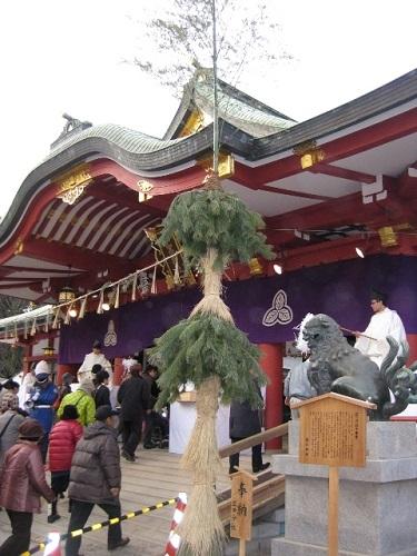 西宮神社の逆さ門松 2012
