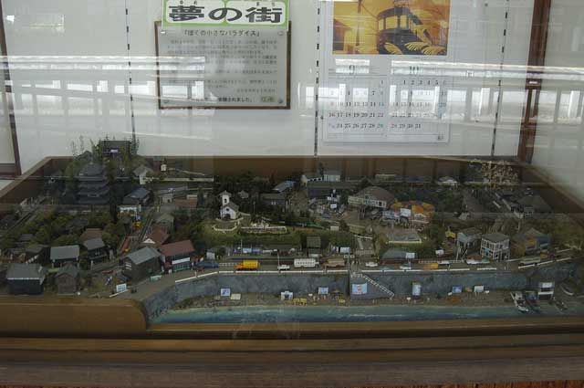 江ノ電周辺のジオラマ