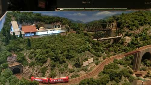 登山鉄道のジオラマ