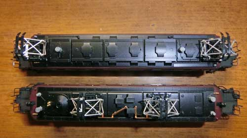 EF56とEF57の屋根上の比較