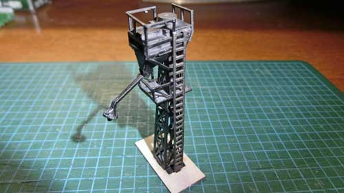 単線給砂塔の完成