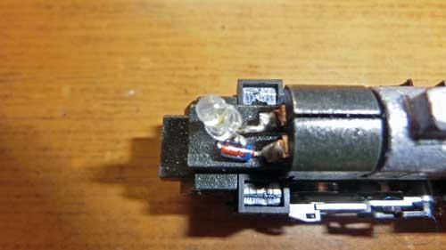 煙突側ライトLED化