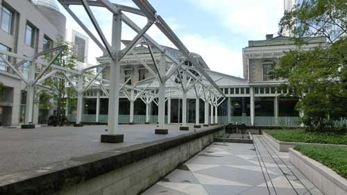 旧新橋のプラットホーム