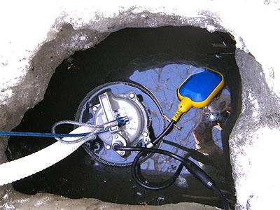 水中ポンプを設置