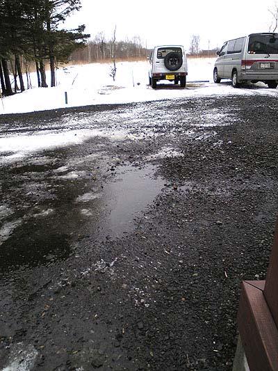 北海道の2月の雨