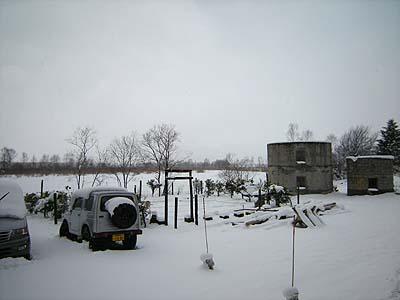 2009年4月27日、北海道の東部はちょっとした吹雪です