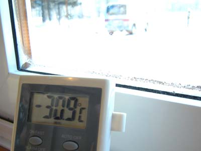我が家の最低気温更新!! -30.9度C