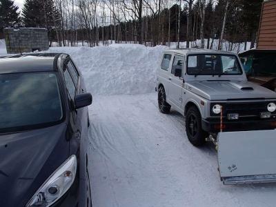 雪置き場に苦労