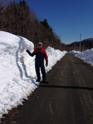 雪の吹き溜まり