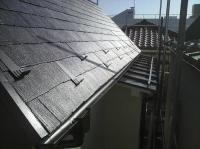 屋根塗装終了後、雪止め