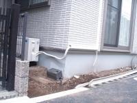 ブロック積、門施工前
