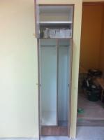 美容室家具(清掃用具、カットクロス収納)