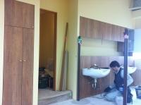 美容院家具シャンプー、収納