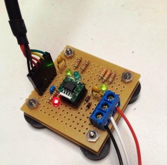 LIN-USB変換基板の写真
