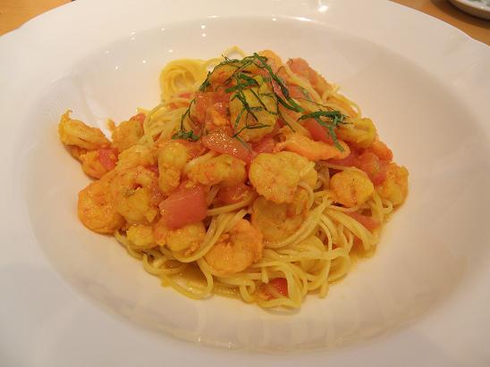 由良産海の幸のスパゲッティーニ、トマト風味