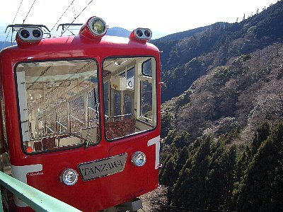 大山観光鉄道が運営するケーブルカーは混雑