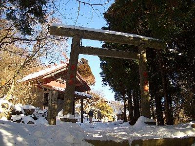 阿夫利神社本社のある大山の頂上