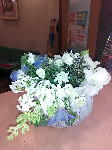 分院受付のお花