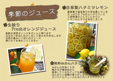 達人村 *季節のジュース*