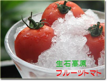 生石高原 真っ赤な完熟トマト