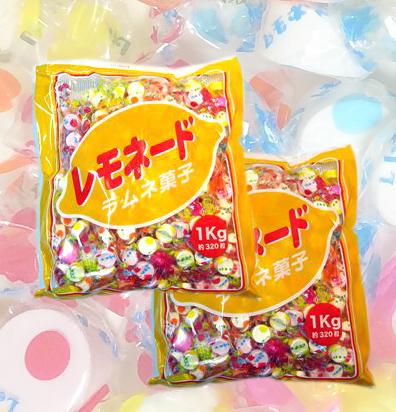 1kg入りラムネ (三矢のレモネード)