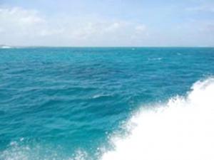 なんともいえない海の色