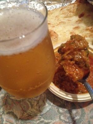 ビールとインドカレー