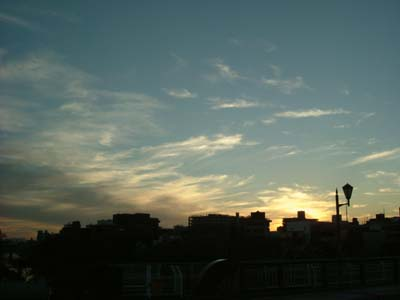 2月12日 メイゴ橋の上より