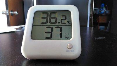 36度越え