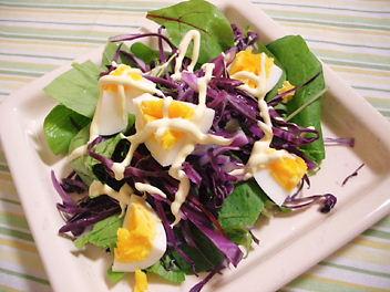 紫のサラダ
