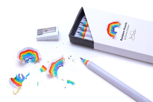 虹色の鉛筆