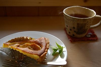 「cafe petale」さんのあかねりんごのカスタードタルト。