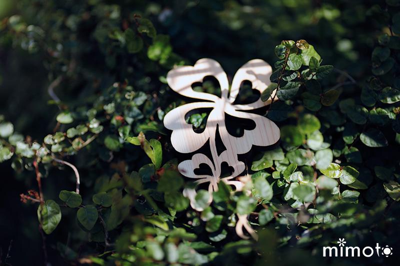 木の雑貨 インテリア雑貨 オリジナルデザイン 四つ葉のクローバー