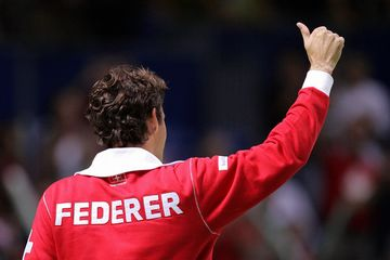 Davis Cup Suisse team jacket-back