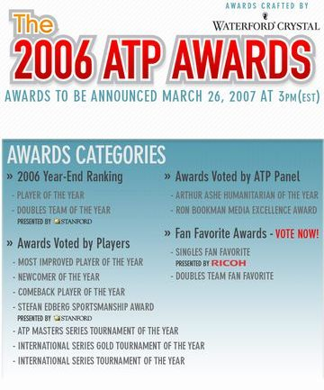 THE 2006 ATP AWARDS