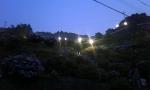 ライトアップ(あじさい茶屋より)