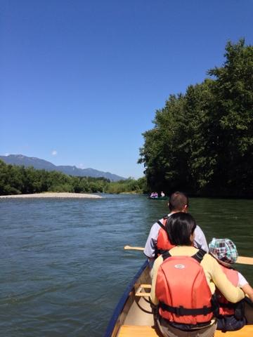 空知川で川下り