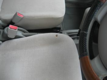 布シート焦げ穴