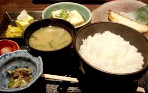 北の魚 南二条店:めろうの西京焼き定食