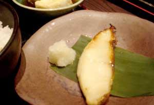 北の魚 南二条店:めろうの西京焼き定食1