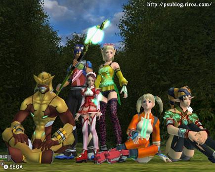 セガのオンラインゲームPSU画像