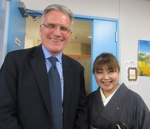 マッケンジー・クラグストン大使と美智子