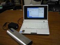 EeePC(Eee PC)4Way電源の装置をFILCOの外部拡張バッテリに接続してEeePCを起動!