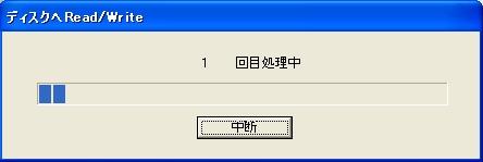 PCC27,SDHC,CFカードに満タンテストのバーグラフ