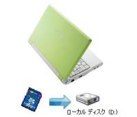 Eee PC 4G−XUラッシュグリーンのSDHCをHDD化する。f2dをインストール。