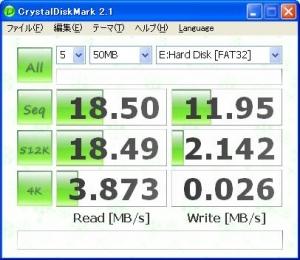 ASUS Eee PC・EeePC901 SDHCリーダの読み取り速度