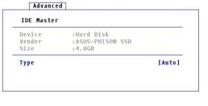 ASUS EeePC・Eee PC 901のBIOS画面4